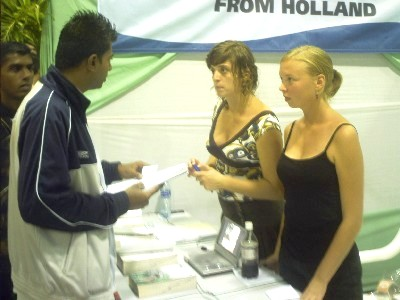 Our booth at the KKF Fair in Paramaribo 2007